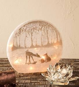 Forest Friends Lighted Tabletop Decoration