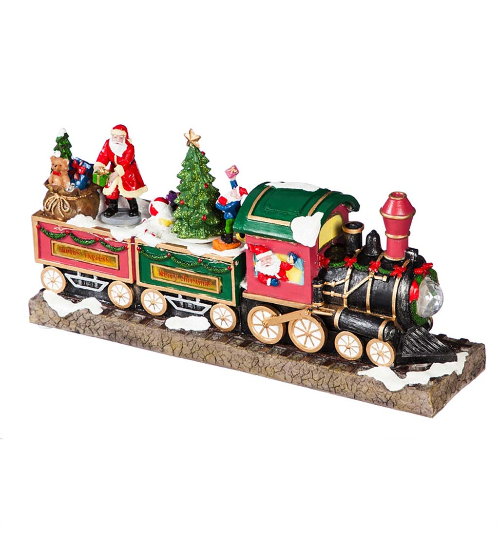 LED Musical Christmas Train Decor