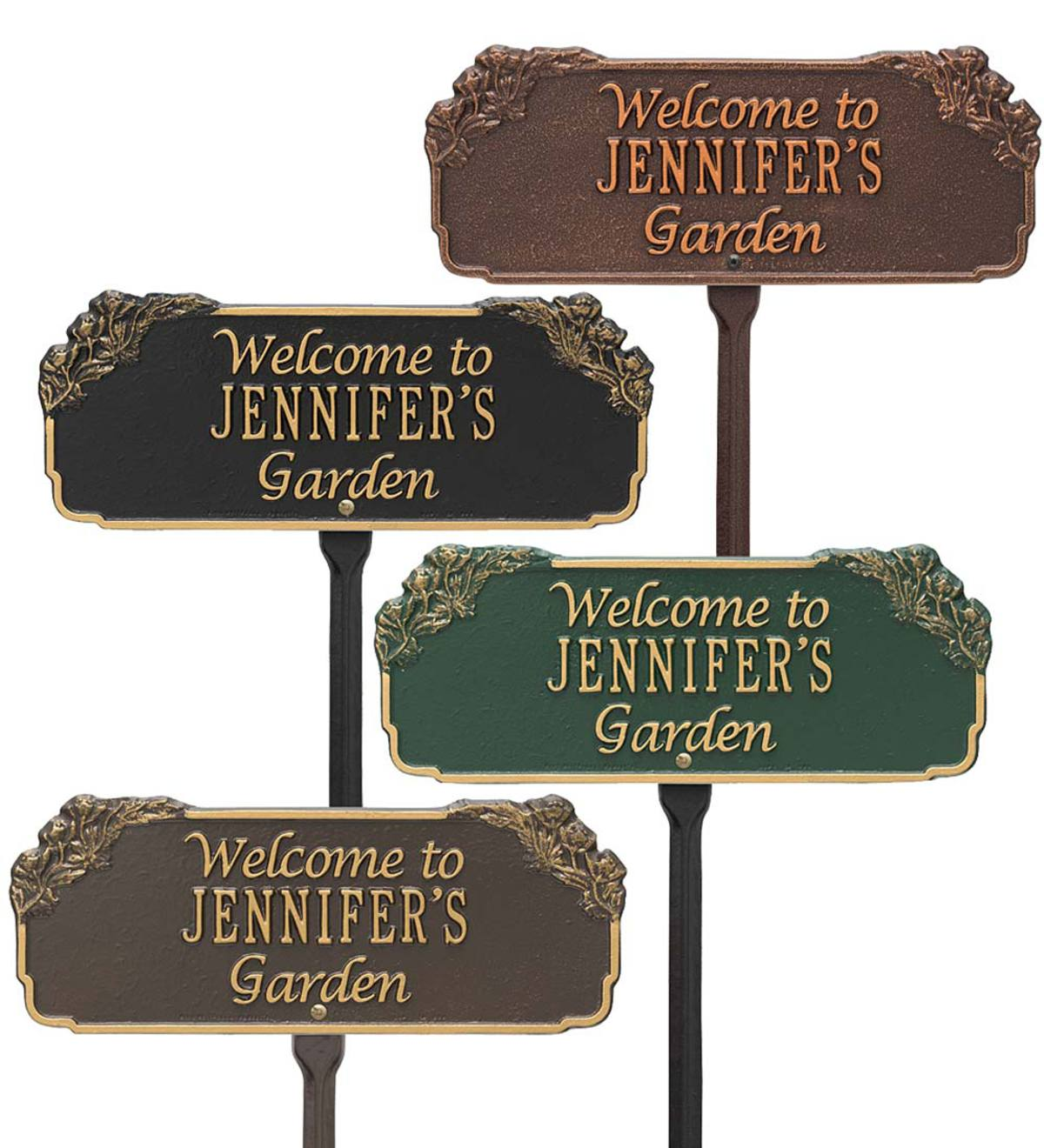 Personalized Welcome Garden Plaque
