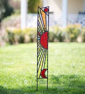 Glass and Metal Sun Garden Stake