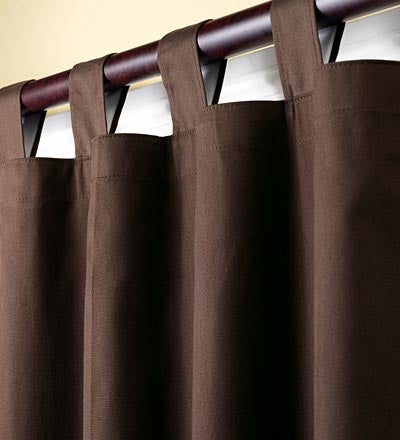"54""L Thermalogic Energy Efficient Insulated Solid Tab-Top Curtain Pair - Chocolate"