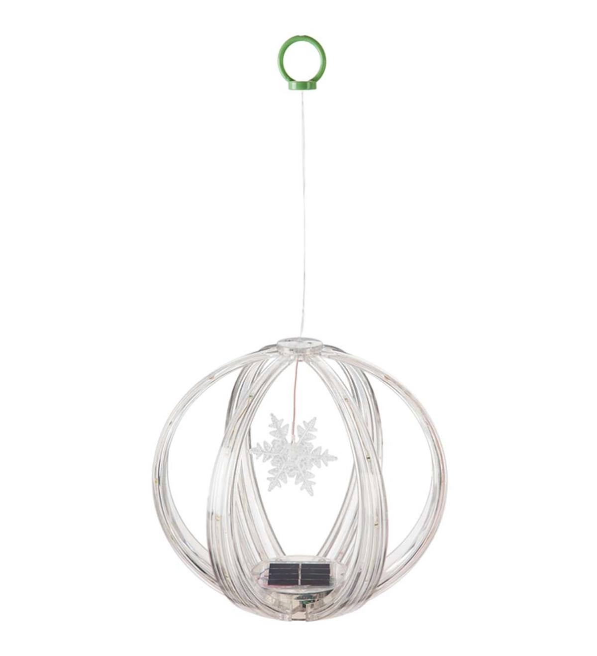 Solar Color Chasing Lighted Sphere Mobile - Snowflake
