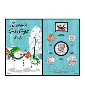 Snowman Greeting Card Coin Set