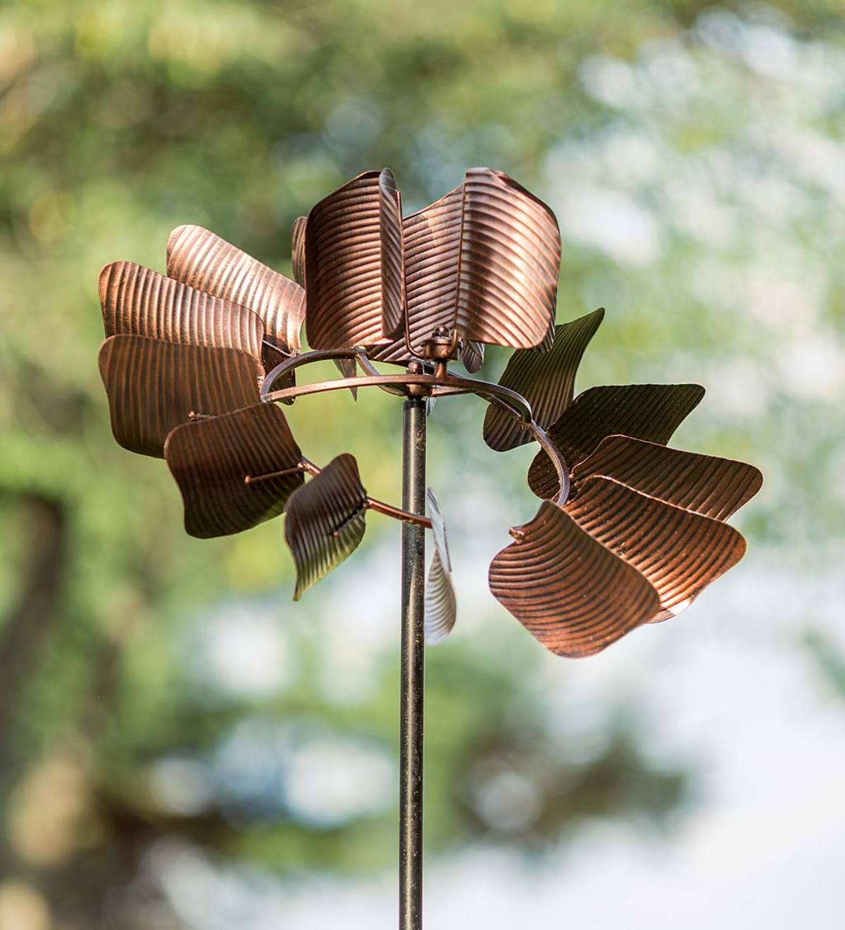 Multi-Action Copper-Colored Wind Spinner