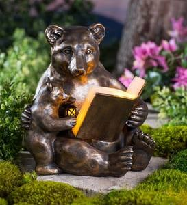 Mama and Baby Reading Bears Sculpture