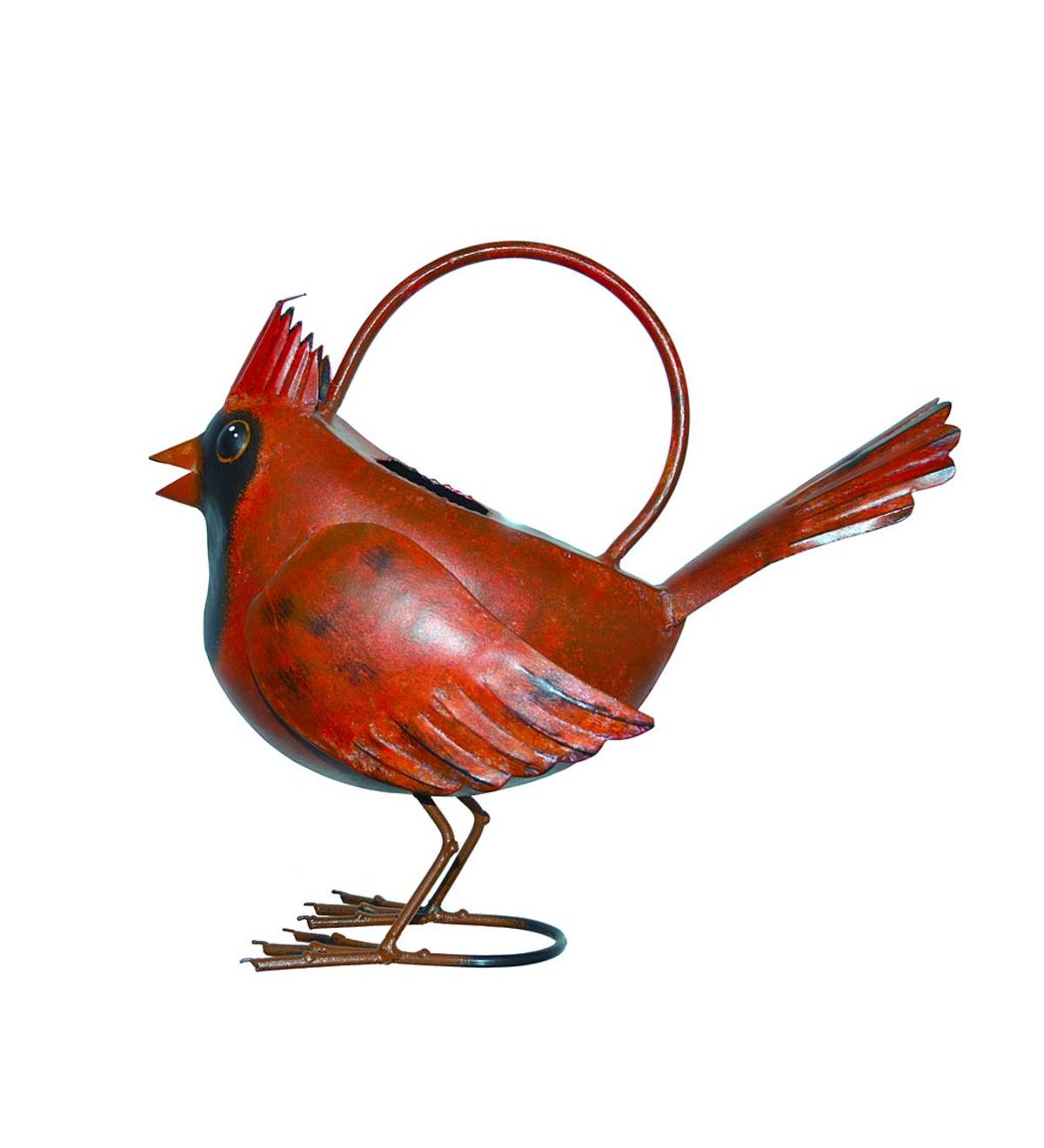 Metal Cardinal Watering Can
