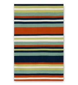 Sorrento Navy Tribeca Striped Indoor/Outdoor Rug