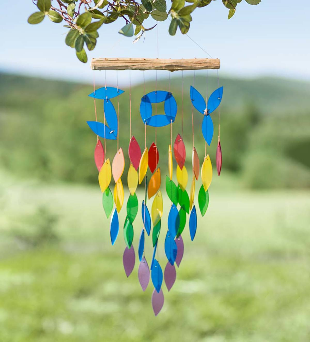 Colored Glass Joy Wind Chime
