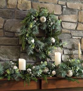Snow-Kissed Holiday Greenery