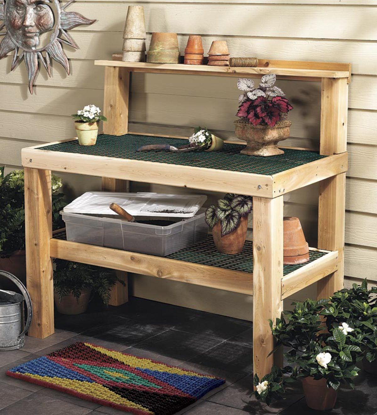 White Cedar Potting Bench
