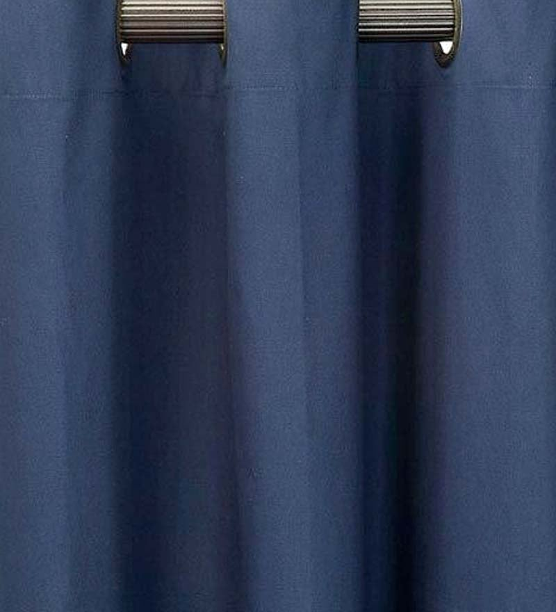 "40""W x 15""L Thermalogic Energy Efficient Insulated Solid Grommet-Top Valance - Navy"