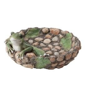 Happy Frog Tabletop Birdbath