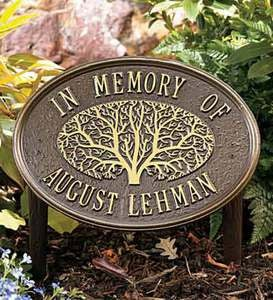Oak Tree Memorial Plaque