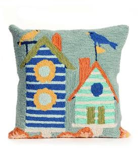 Birdhouses Indoor/Outdoor Pillow