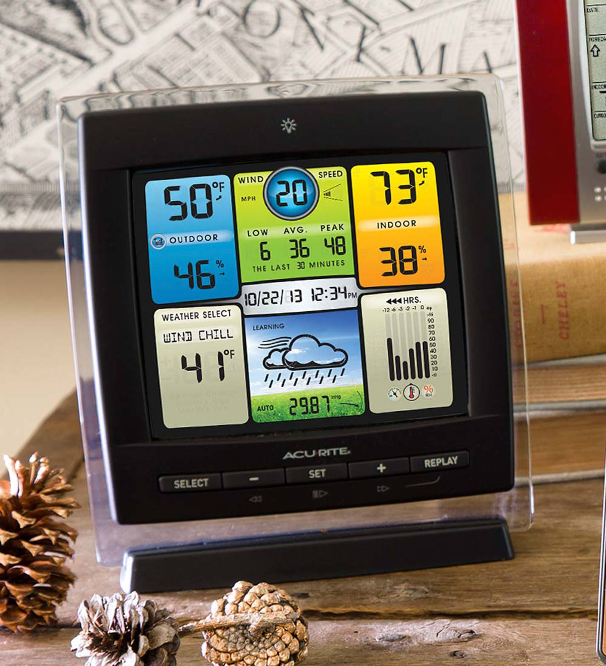 AcuRite® 3-in-1 Weather Center with Color Display