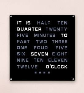 Time in Words Wall Clock