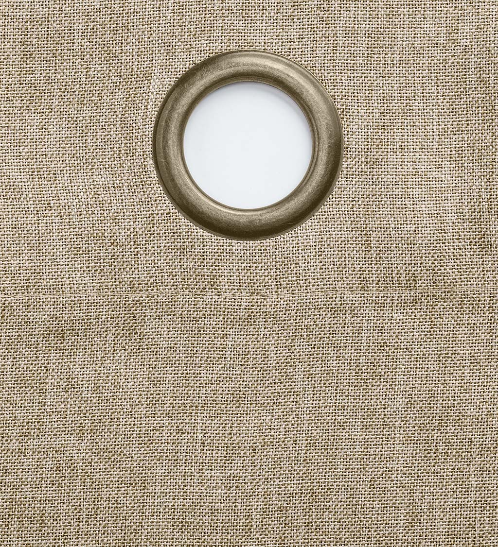 "Madison Double-Blackout Grommet Curtain Pair, 40""W x 84""L per panel - Driftwood"