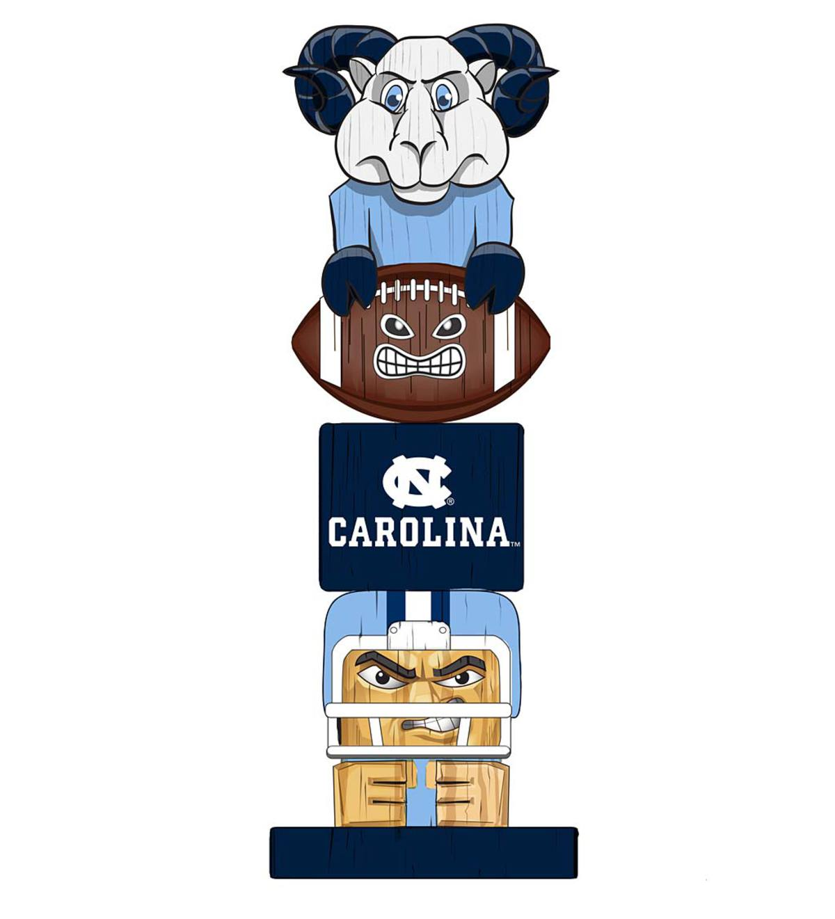 College Football Fan Totem Pole - University of North Carolina