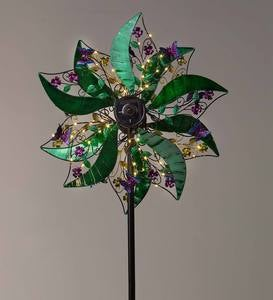 Green and Purple Solar Spinner