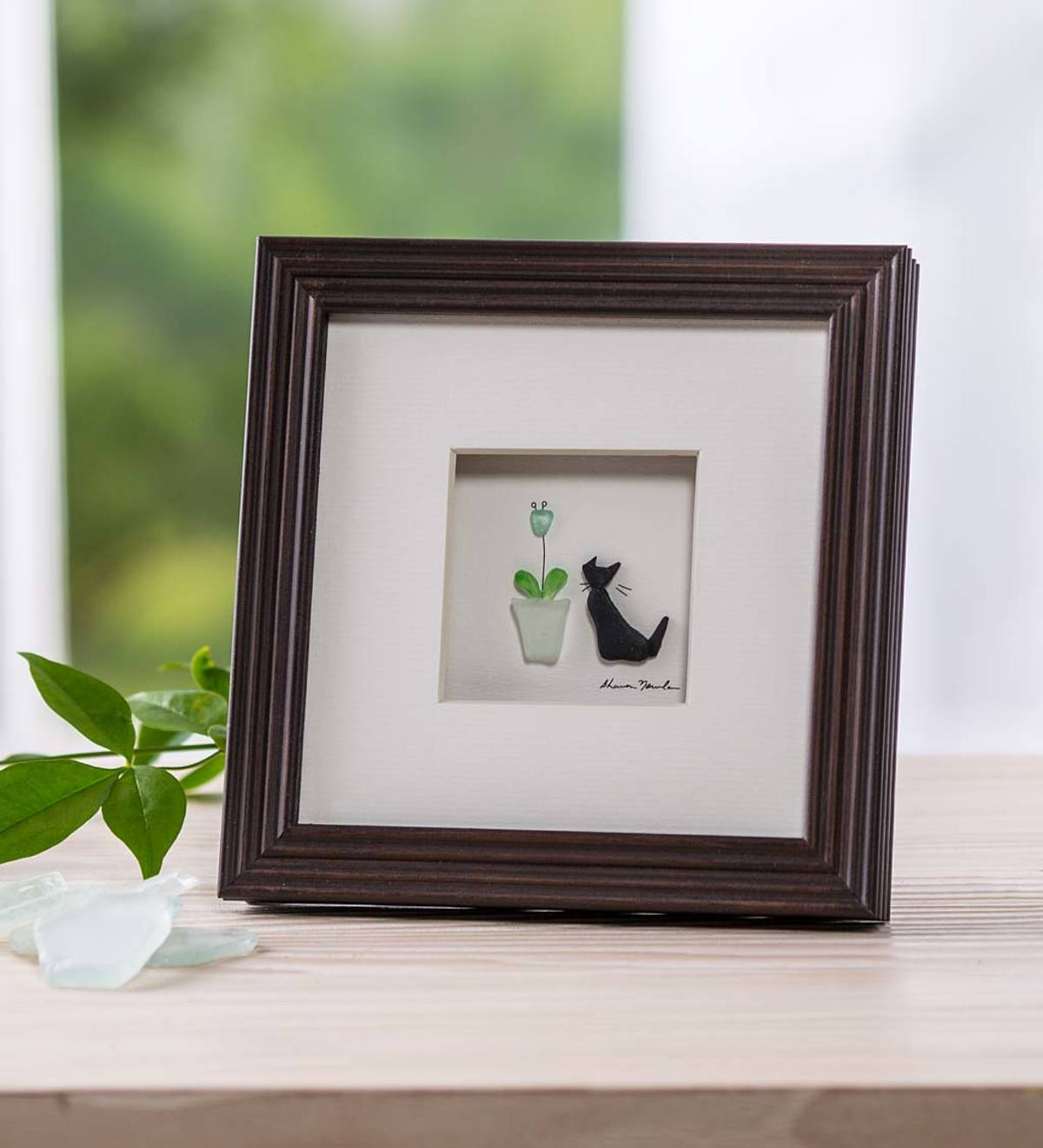 Purrfect Petals Framed Wall Art