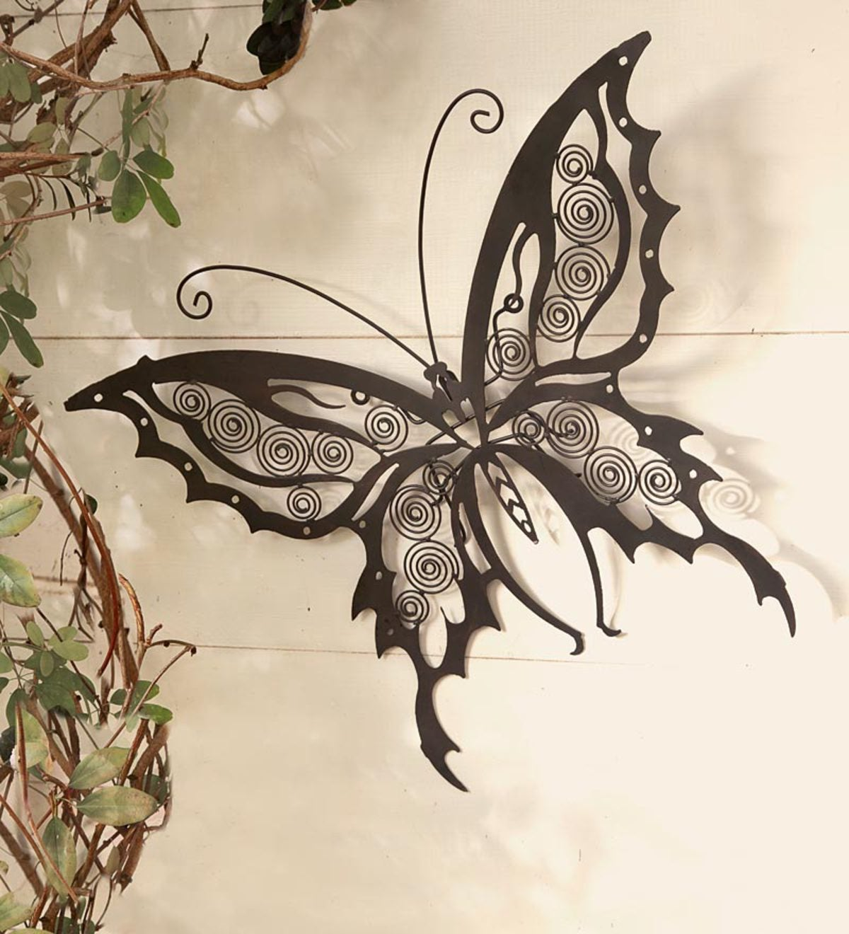 Iron Butterfly Wall Sculpture