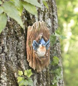 Happy Bluebird in a Tree Wall Art