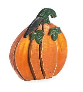 Wood and Metal Decorative Pumpkin