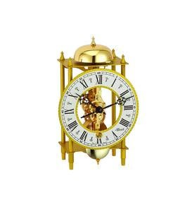 Hermle Golden Metal Tabletop Skeleton Clock