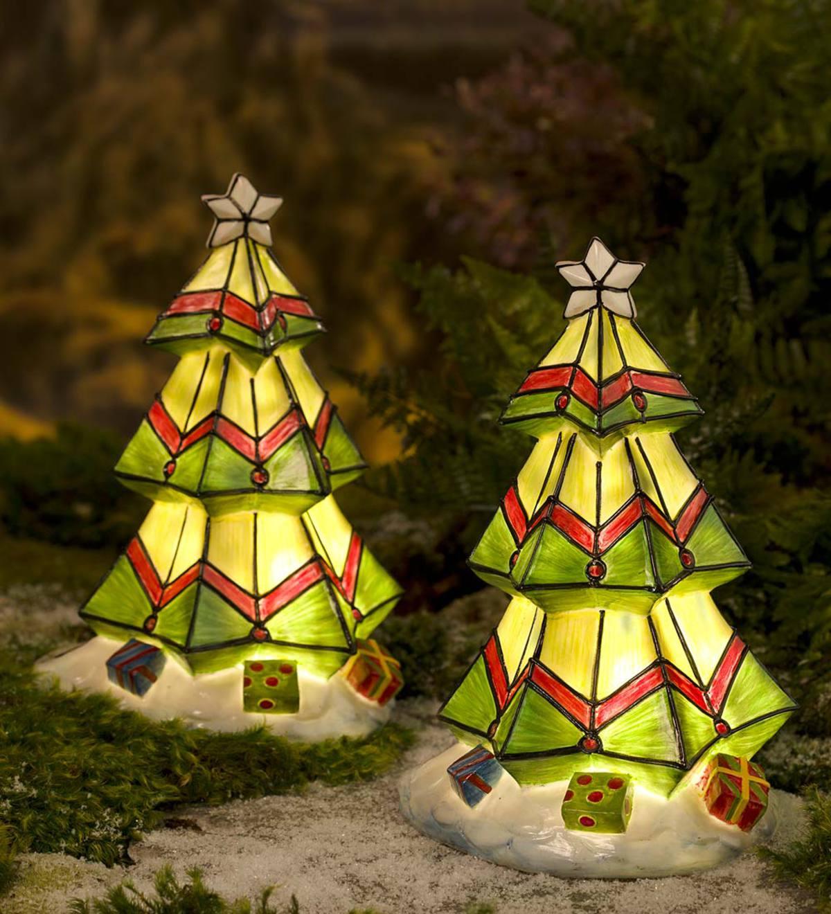 colorful solar christmas tree - Solar Christmas Tree