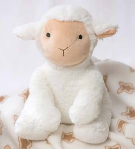 Cuddly Lamb Stuffed Animal with Blanket Gift Set, Cream