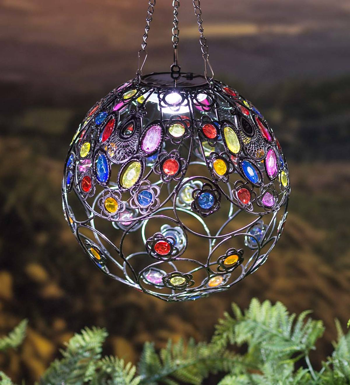 Hanging Colorful Solar Lighted Ball