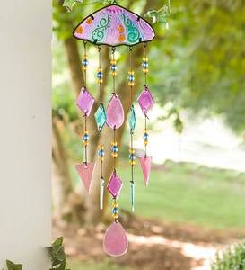 Umbrella Metal and Glass Wind Chime