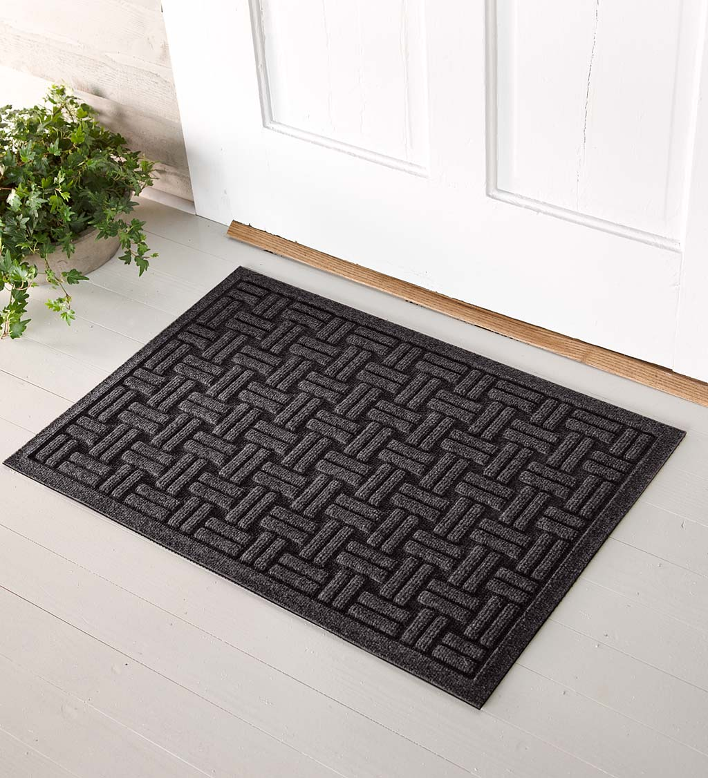 Waterhog Basket Weave Doormat, 3' x 7' - Charcoal