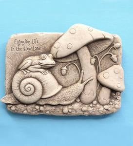 Life in the Slow Lane Stone Plaque by Carruth Studio