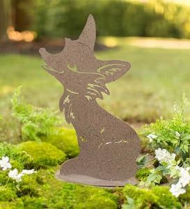 Whimsical Animal Silhouette Metal Garden Stake
