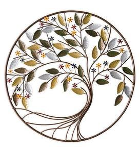 Round Metal Tree Wall Art