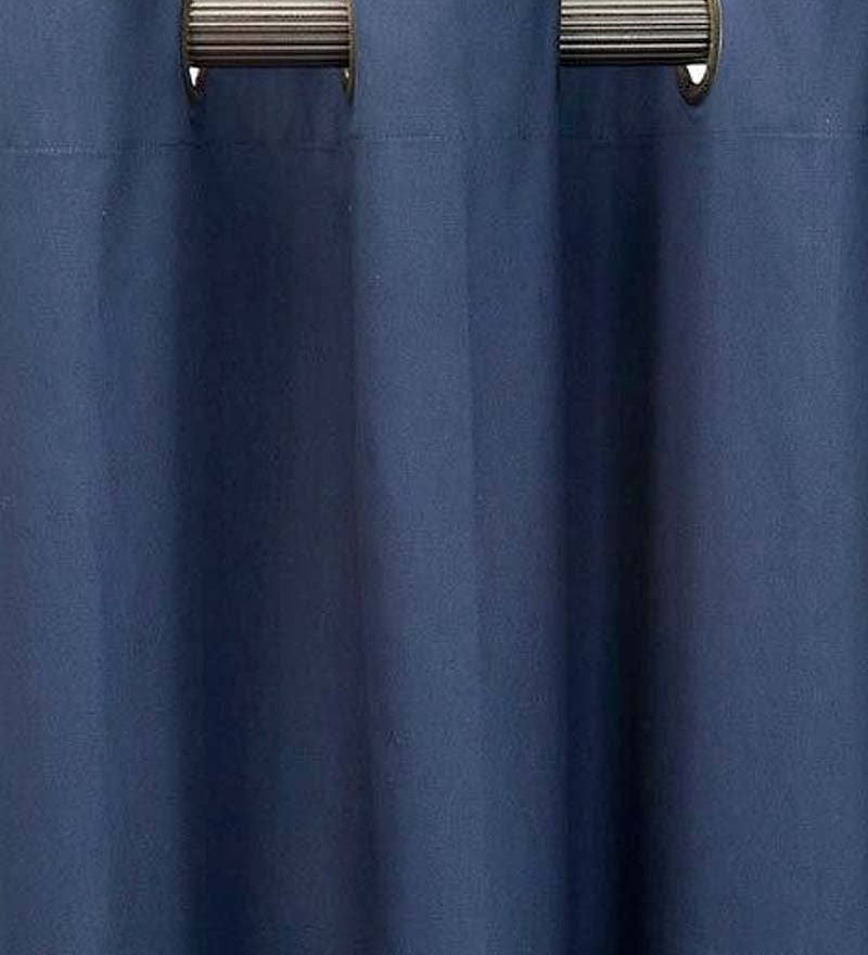 "63""L Thermalogic Energy Efficient Insulated Solid Grommet-Top Curtain Pair - Navy"