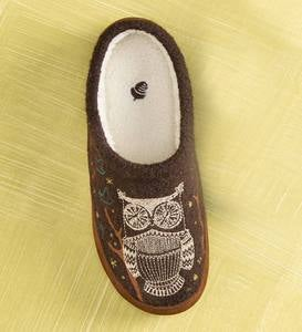 Acorn® Forest Mules Womens Slippers - Grey Squirrel - S(6-7)