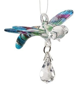 Glass Dragonfly Suncatcher - Rainbow