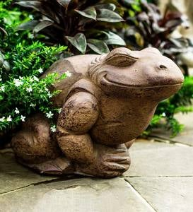 Contented Frog Outdoor Sculpture