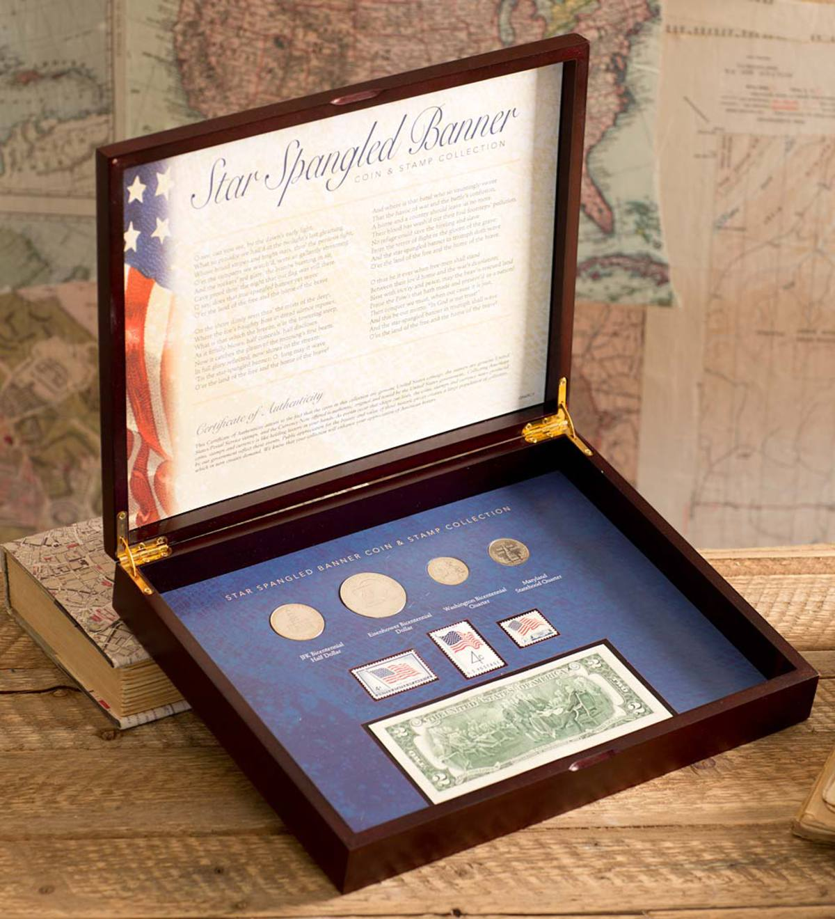 Collectible Star Spangled Coins and Stamps Set