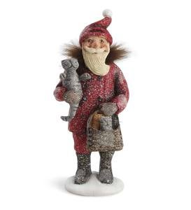 Santa with Kittens Figurine