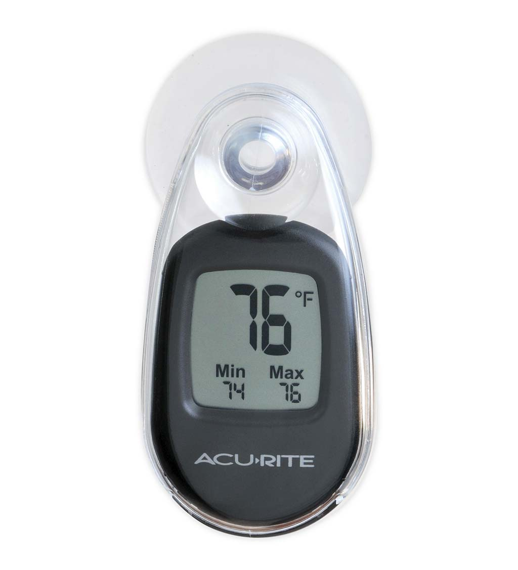 Indoor/Outdoor Digital Thermometer with Suction Cup Window Mount swatch image