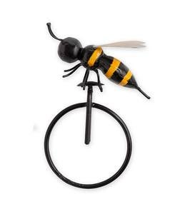 Large Metal Bee on Unicycle Wall Art