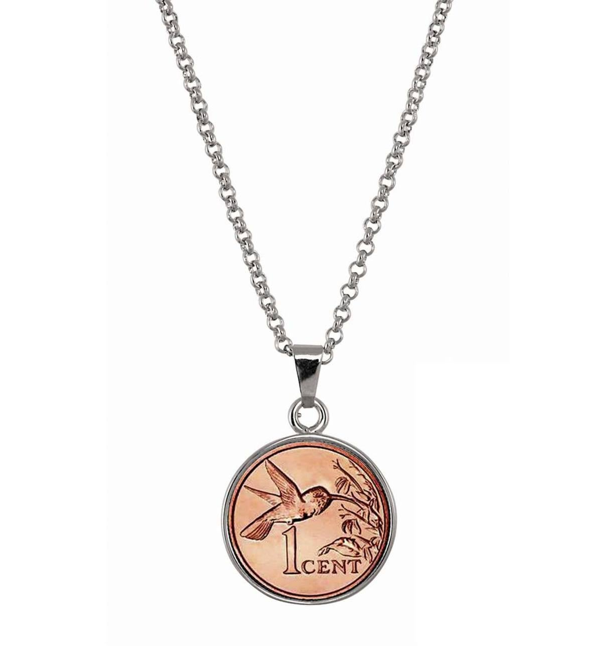 Hummingbird Coin Necklace