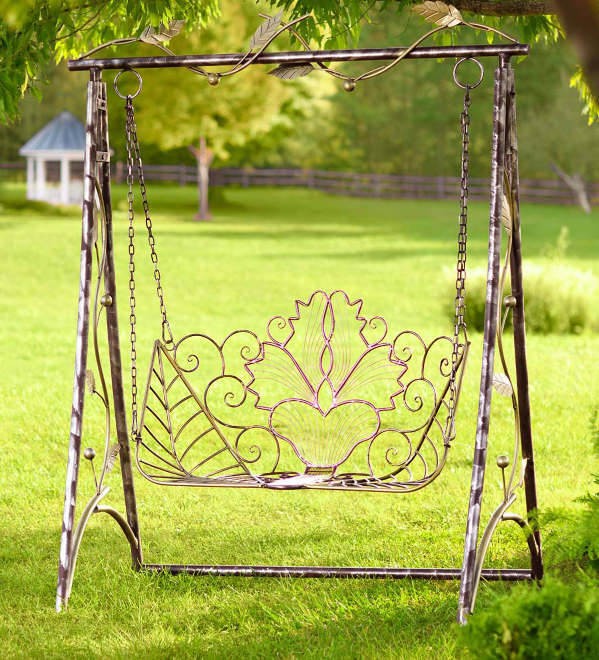 Metal Iris Swing and Stand Set