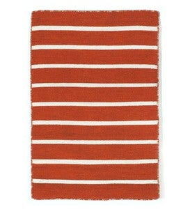 Sorrento Paprika Pinstripe Indoor/Outdoor Rug