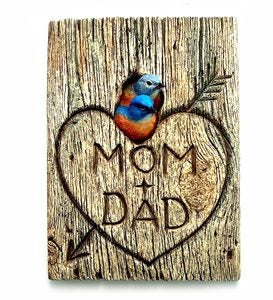 Personalized Bluebird Mates Wall Plaque