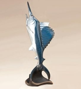 Airborne Sailfish Stonecast™ Sculpture