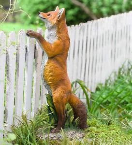 Lifelike Indoor/Outdoor Resin Standing Fox Statue